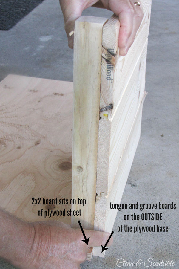 How to build a wood crate.