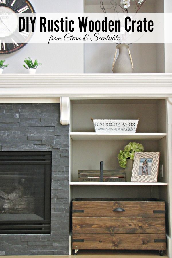 DIY Rustic Wooden Crates - pretty AND functional storage space! // cleanandscentsible.com