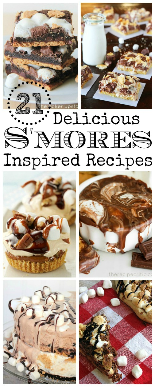 Collection of the best s'mores recipes including cakes, popsicles, bars, and more!