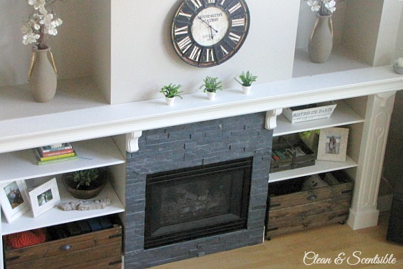 Great ideas to update your fireplace. // cleanandscentsible.com