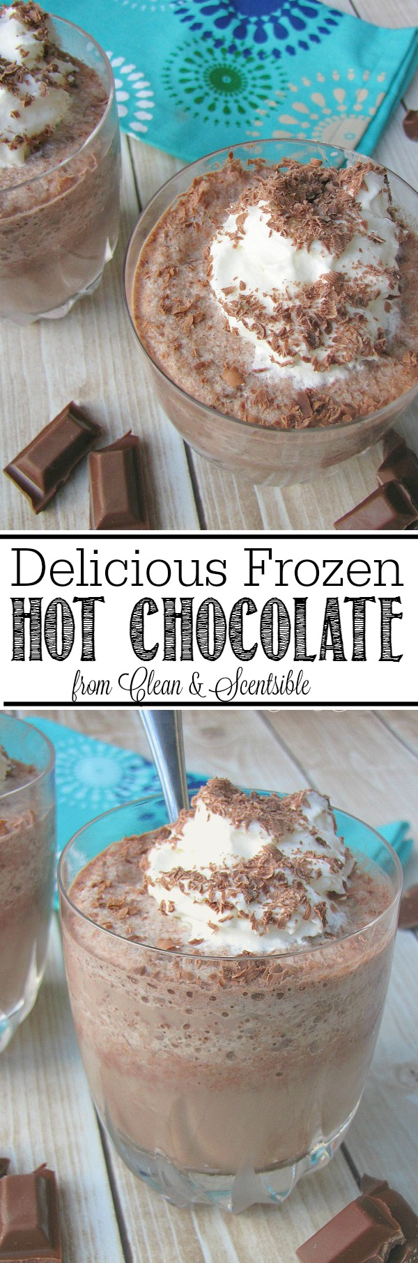 This delicious frozen hot chocolate is the best way to beat the heat this summer!