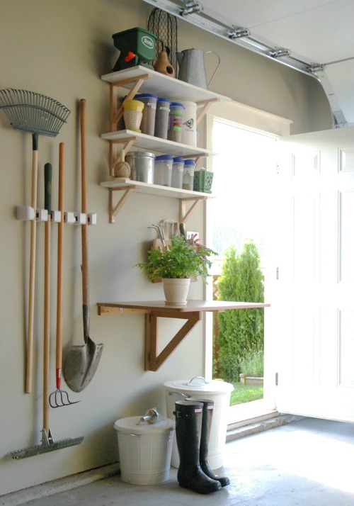 Organizing garden supplies and tons of other awesome ideas for organizing your garage!