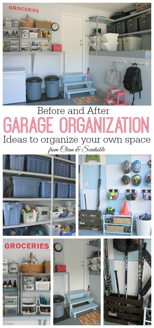 Tons of great garage organization ideas! // cleanandscentsible.com