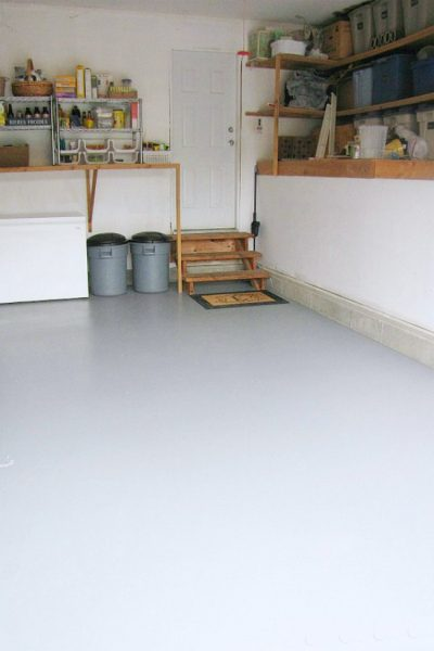 How To Paint A Garage Floor Clean And