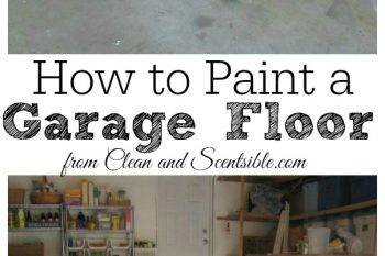 Garage archives clean and scentsible for How to clean garage floor