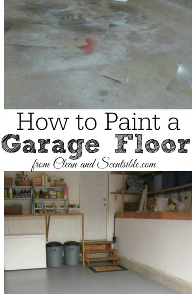 how to paint a garage floor clean and scentsible - How To Paint Garage Floor