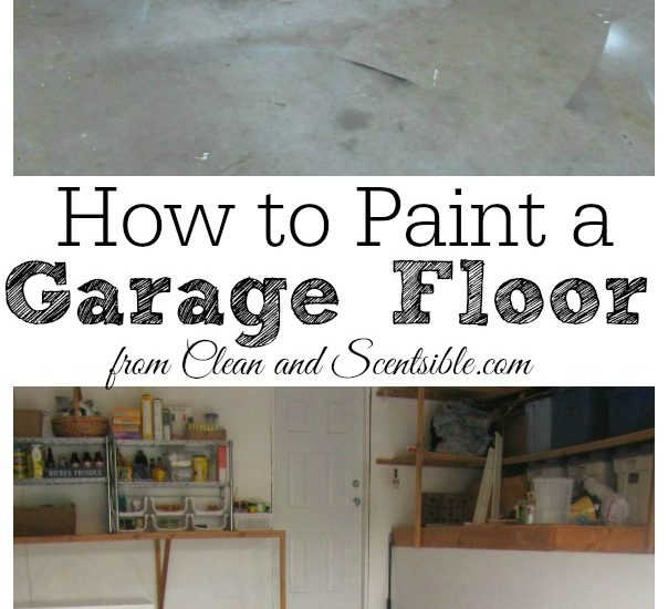 How to Paint a Garage Floor - Clean and Scentsible How To Paint Garage Floor on base concrete floor, spray paint garage floor, painted concrete floor, diy acid stained concrete floor,