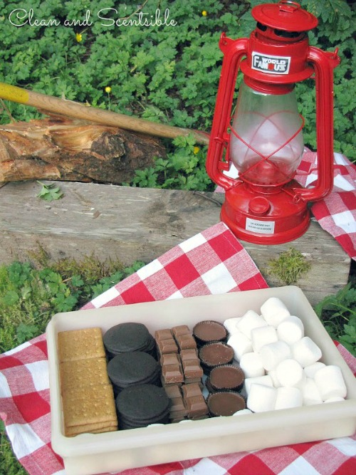 S'mores Box - great way to customize your s'mores!  Lots more awesome  s'mores recipes too!
