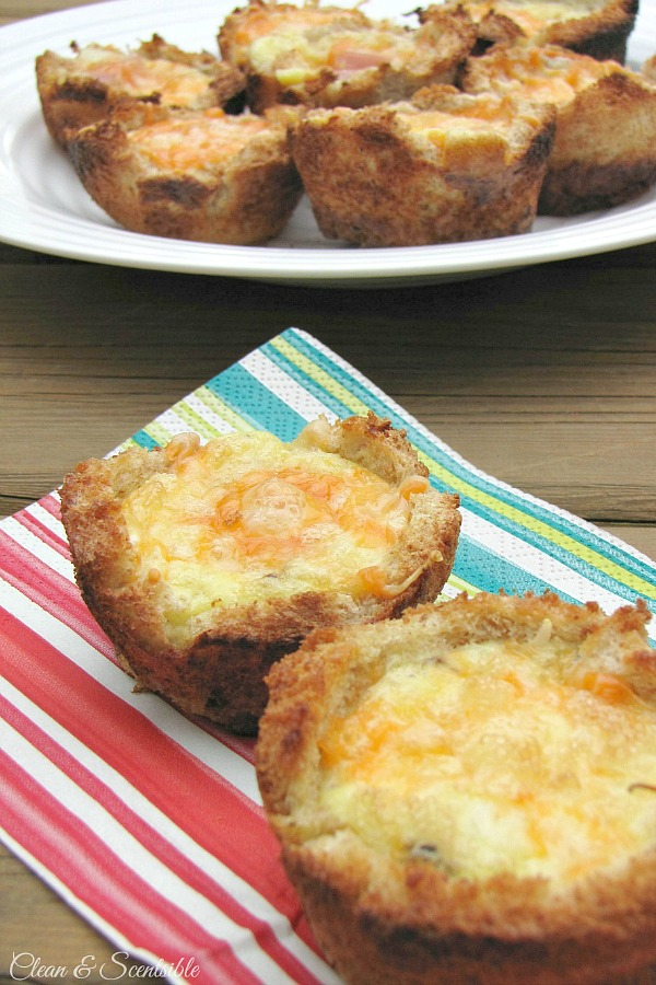 Egg and toast cups - just add your favorite toppings and make them up on the grill or oven. It's the perfect breakfast and great for camping too!