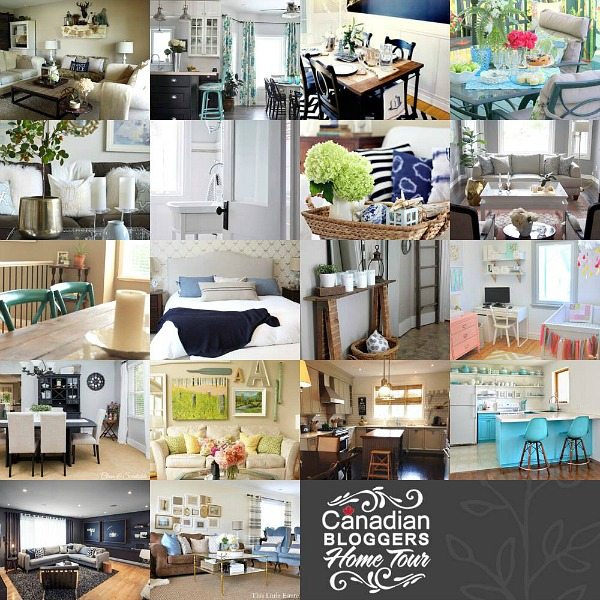 Canadian Home Bloggers Tour.  Tons of home inspiration and beautiful ideas!  // cleanandscentsible.com