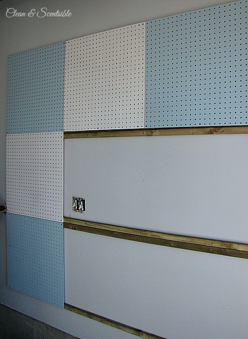 DIY Pegboard Organization System. // cleanandscentsible.com