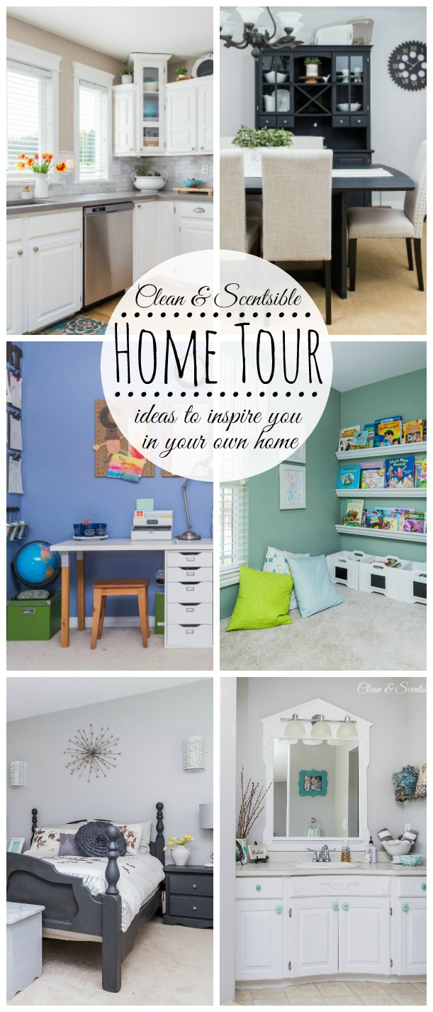 Come take the home tour for ideas to inspire you in your own home! // cleanandscentsible.com