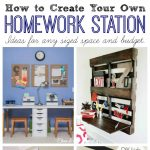 Lots of fun ideas for creating a homework station with any sized space and budget! // cleanandscentsible.com