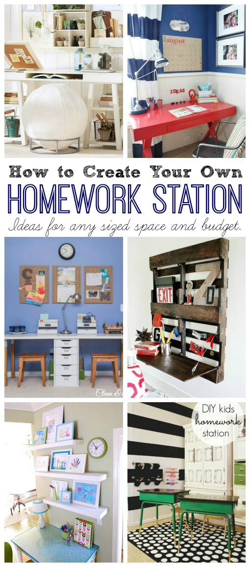 Collection of homework station ideas for any space or budget.