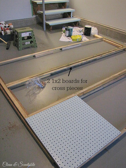 How to build a pegboard wall. // cleanandscentsible.com