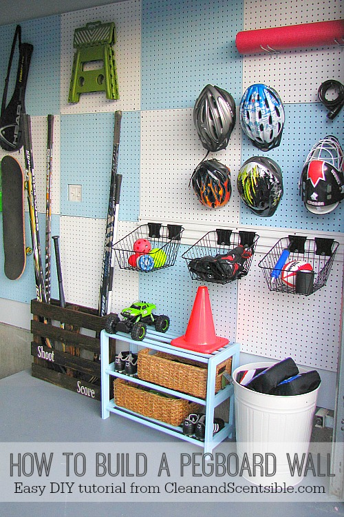 How To Build A Pegboard Wall Clean