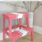 Cute painted Ikea BEKVAM stool. // cleanandscentsible.com