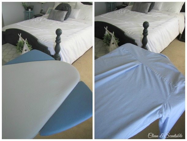 Iron Ease Ironing Board with a shoulder wing system for quicker and easier ironing.
