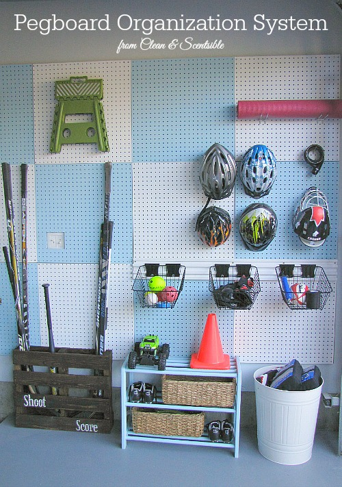 garage organization ideas pegboard - Cabinet & Shelving Pegboard Organization Ideas