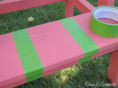 Painted Ikea Step Stool.