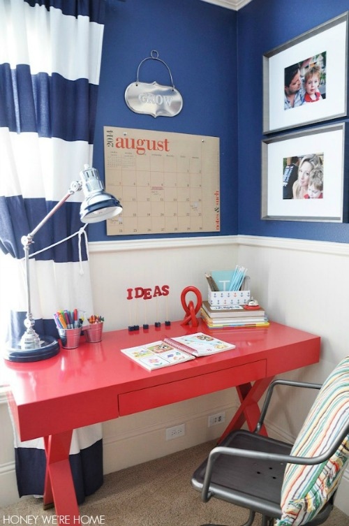 Great ideas for setting up a homework station for any sized space! // cleanandscentsible.com
