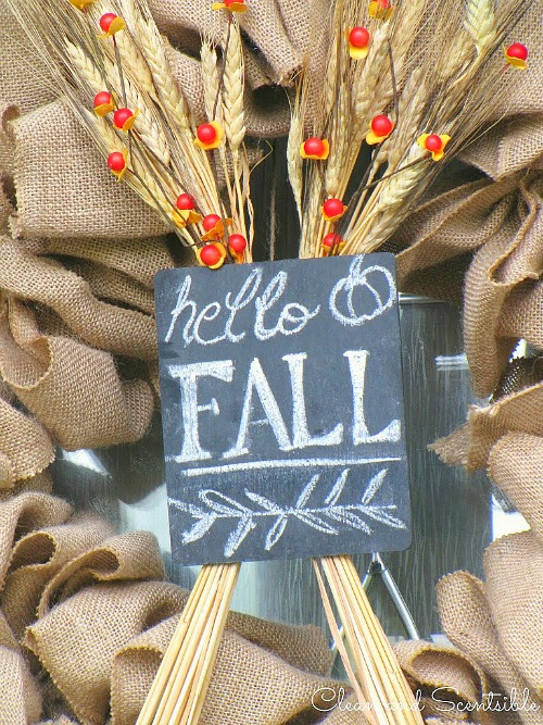 Easy DIY Fall Buralp Wreath.  // cleanandscentsible.com