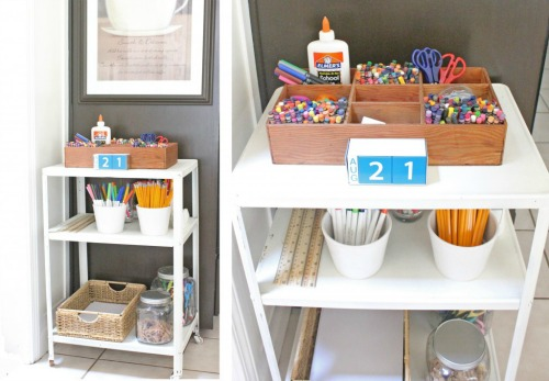 Lots of great ideas for how to create a homework station in any sized space. // cleanandscentsible.com