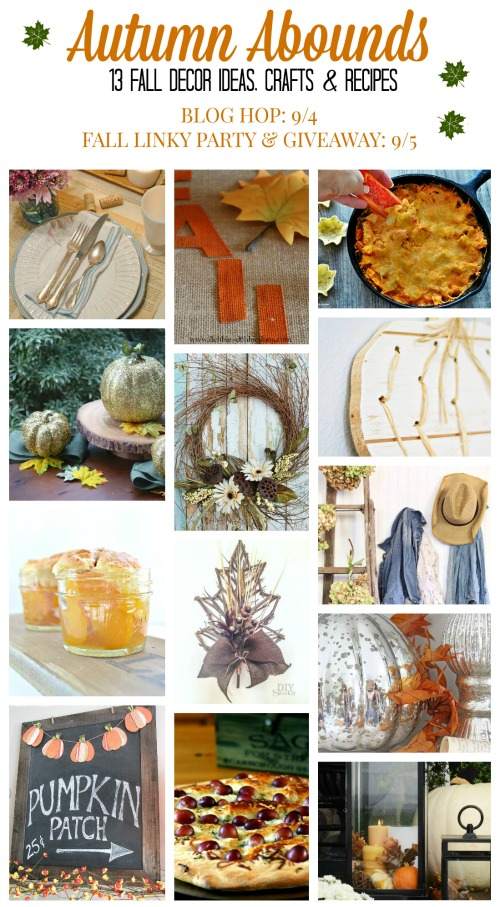 Awesome ideas for fall - fall decor, crafts and recipes!