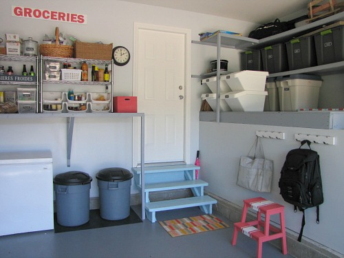Awesome garage makeover!  Lots of practical ideas for creating an organized and functional garage. // cleanandscentsible.com
