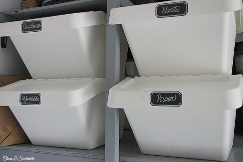 Ikea recycling bins.  // cleanandscetnsible.com