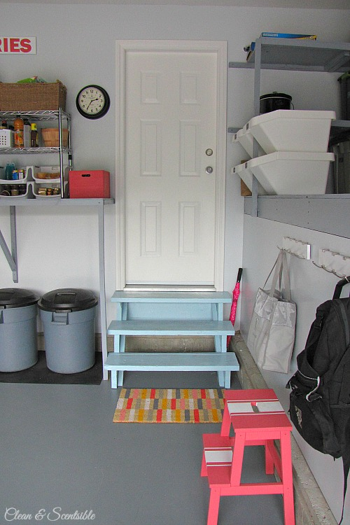 Awesome garage makeover!  Lots of practical ideas to create an organized and functional space! // cleanandscentsible.com