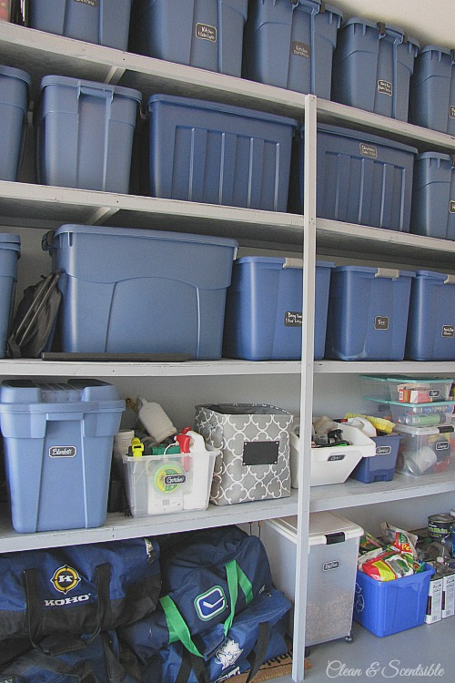 Great ideas for how to organize your garage. // cleanandscentsible.com
