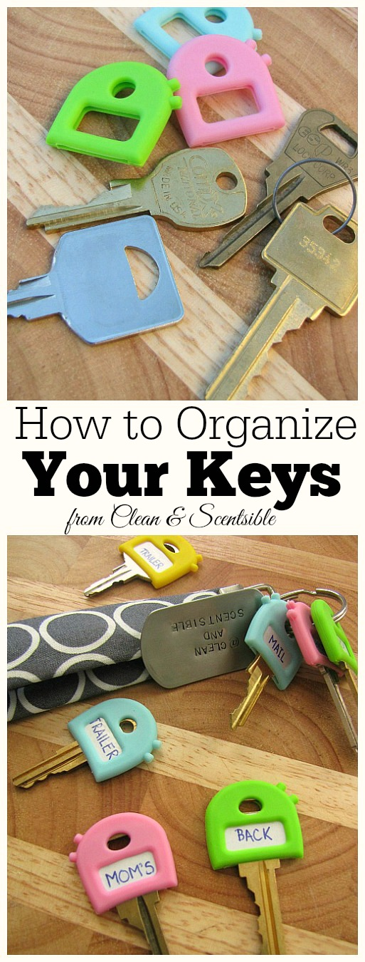 How to Organize Your Keys. // cleanandscentsible.com