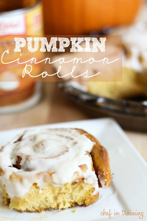 Pumpkin cinnamon rolls and lots of other amazing pumpkin recipes for fall! // cleanandscentsible.com