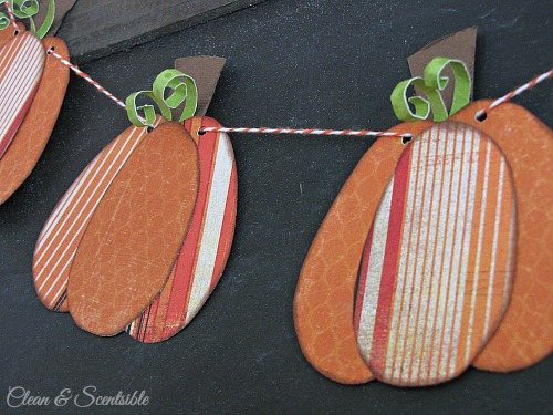 Mini-pumpkin bunting. // cleanandscentsible.com