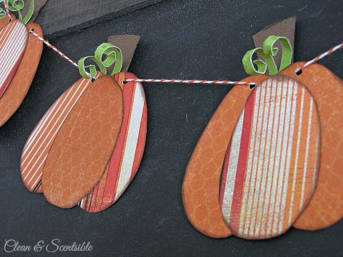 Mini-pumpkin bunting. // cleanandscentsible.com