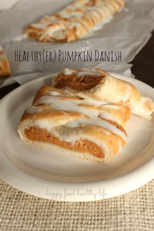 Healthy{er} pumpkin danish and lots more delicious pumpkin recipes for fall! // cleanandscentsible.com