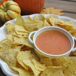 This pumpkin nacho cheese dip is a fall favorite! // cleanandscentsible.com