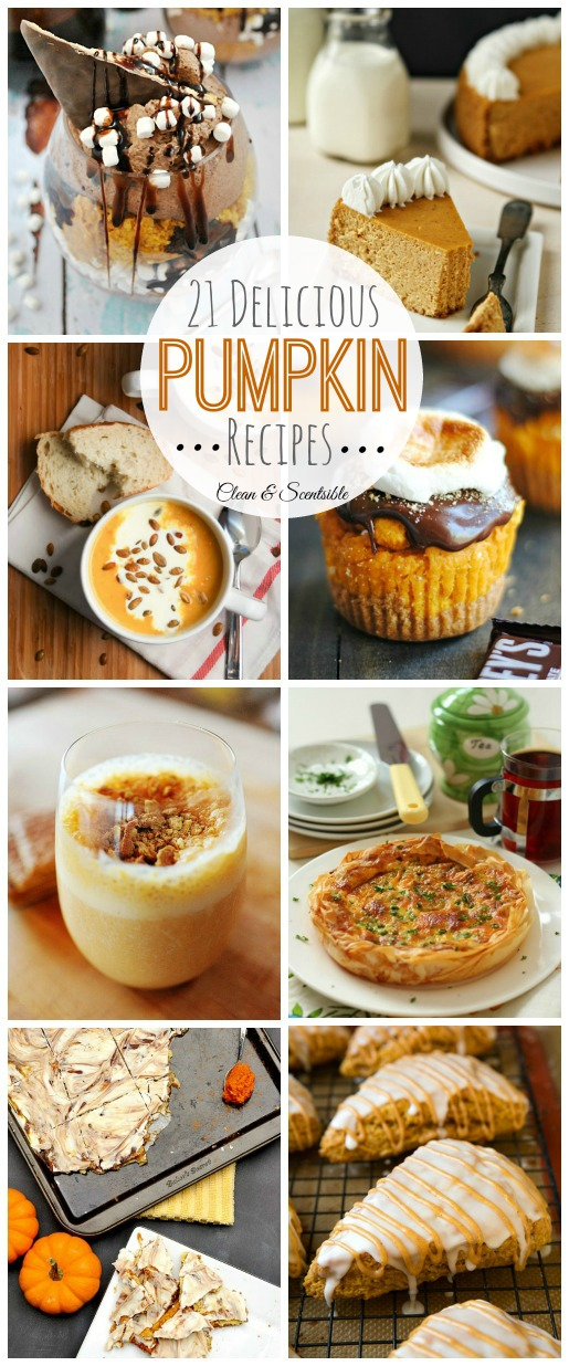 Delicious collection of pumpkin recipes for fall! // cleanandscentsible.com