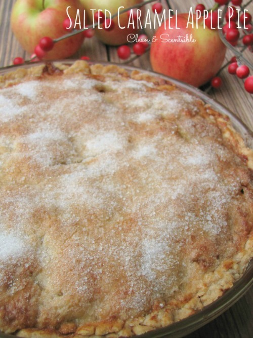 Salted caramel apple pie. // cleanandscentsible.com