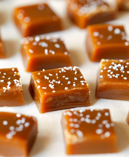 Salted Chewy Caramels from Deliciously Yum.