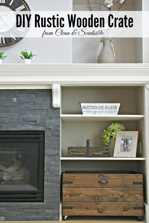 DIY Rustic Wooden Crate Tutorial. // cleanandscentsible.com