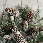Make your own snow covered branches and pine cones to use for Christmas vignettes and displays. So much prettier! // cleanandscentsible.com
