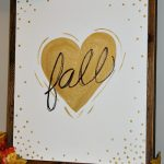 Fall Love Canvas - easy DIY tutorial. // cleanandscentsible.com