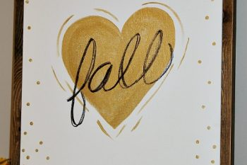 Fall Love Wood Framed Canvas