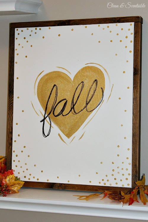 Fall Love Wood Framed Canvas - Clean and Scentsible