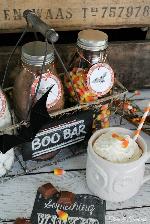 Love this Halloween Beverage Bar!