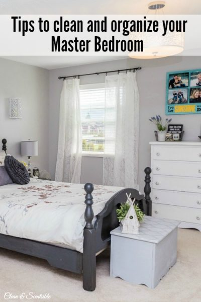 Everything you need to get your master bedroom cleaned and organized. Free printables included. // cleanandscentsible.com