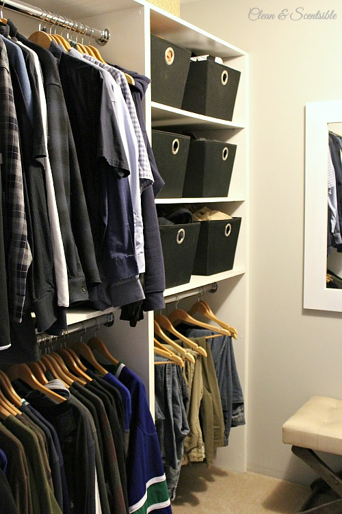 Great tips and tricks to create a functional and organized master closet! // cleanandscentsible.com