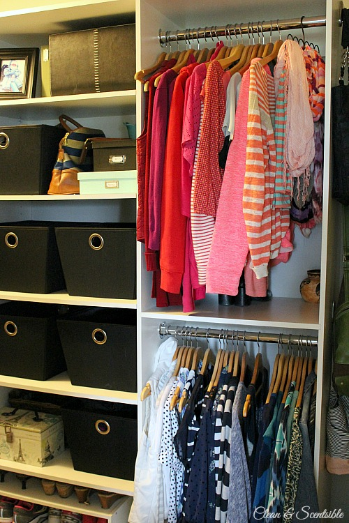 Great Tips And Tricks To Create A Functional And Organized Master Closet!  // Cleanandscentsible